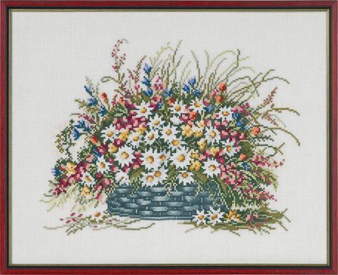 Permin社 デンマーク 格安激安 夏の花かご の輸入クロスステッチキット 直営店
