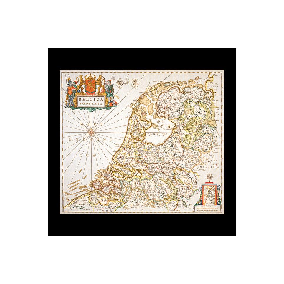 テア グーベルヌール クロスステッチ刺繍キット 【Dutch Antique Map 】中級者ー上級者向き ☆お取り寄せキット(納期は30-90日程度)