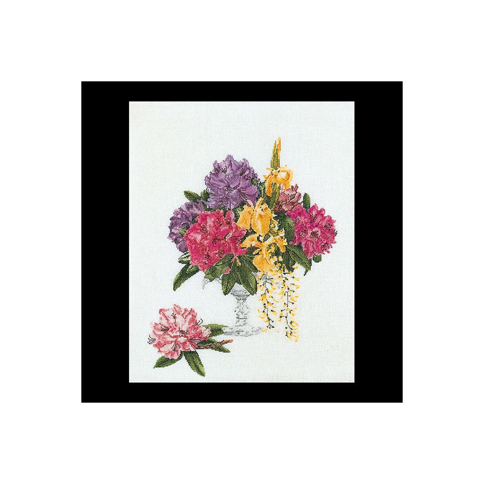 Thea Gouverneur社 オランダ の輸入クロスステッチキット テア 40%OFFの激安セール グーベルヌール ☆お取り寄せキット 納期は30-90日程度 再入荷 予約販売 Rhododendron クロスステッチ刺繍キット 中級者ー上級者向き