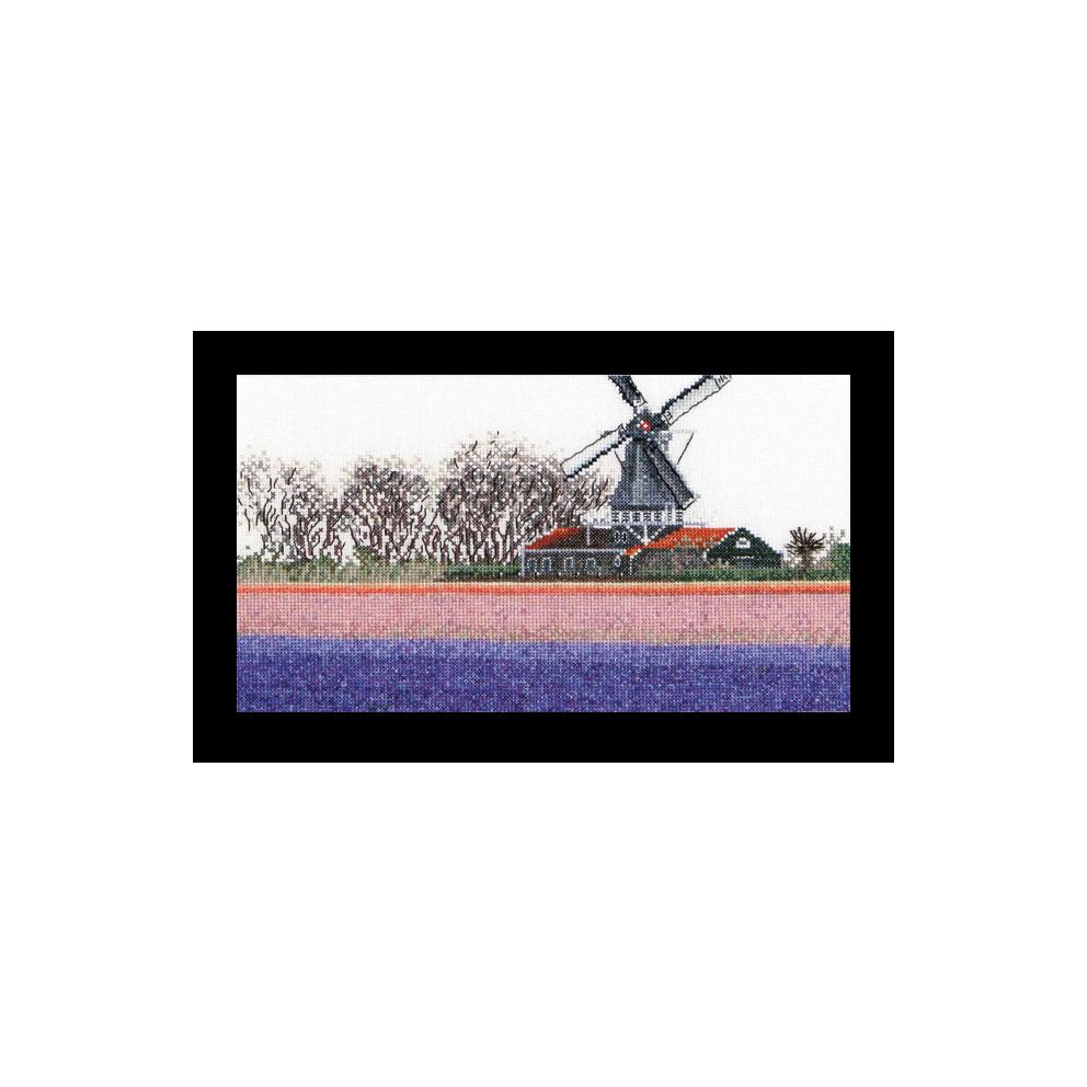 Thea Gouverneur社 オランダ の輸入クロスステッチキット テア グーベルヌール ☆お取り寄せキット 贈答 4年保証 クロスステッチ刺繍キット 納期は30-90日程度 Fields Hyacinth 中級者ー上級者向き