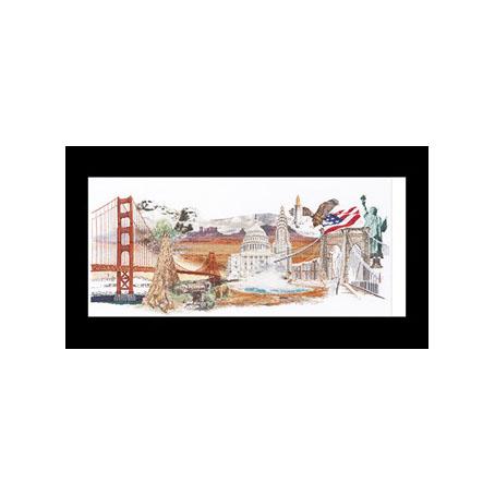 テア グーベルヌール クロスステッチ刺繍キット 【America 】中級者ー上級者向き ☆お取り寄せキット(納期は30-90日程度)