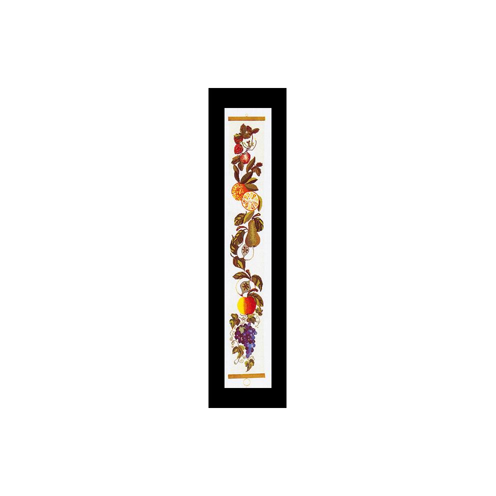 テア グーベルヌール クロスステッチ刺繍キット 【Fruit Bell Pull 】中級者ー上級者向き ☆お取り寄せキット(納期は30-90日程度)