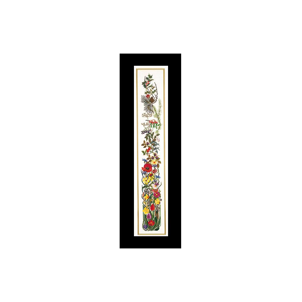 テア グーベルヌール クロスステッチ刺繍キット 【Seasons Bell Pull 】中級者ー上級者向き ☆お取り寄せキット(納期は30-90日程度)
