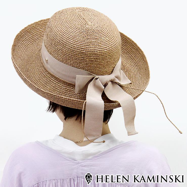 【15%クーポン】【RカードでP10倍相当 5/5 23:59まで】【正規品】ヘレンカミンスキー 帽子 HELEN KAMINSKI newport sb ラフィア ハット リボン 麦わら帽子 レディース 春夏 UPF50+ 紫外線対策 日除け