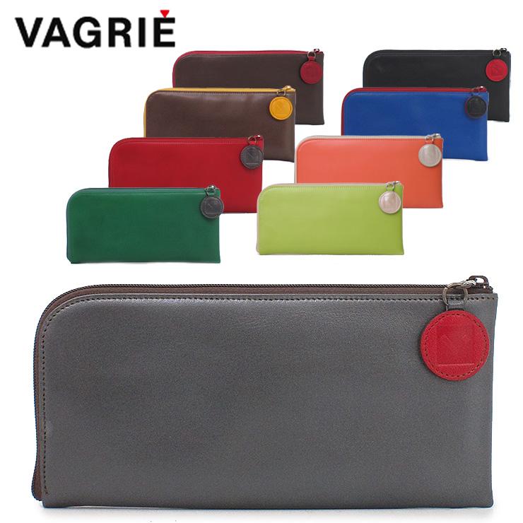 ヴァグリエ Vagrie 長財布 スリムウォレット 薄型 本革 L字 ファスナー レディース ga0026