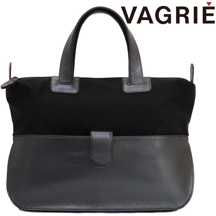 vagrie ヴァグリエ トートバッグ ナイロン 本革 レディース a4 横 軽量 n76225