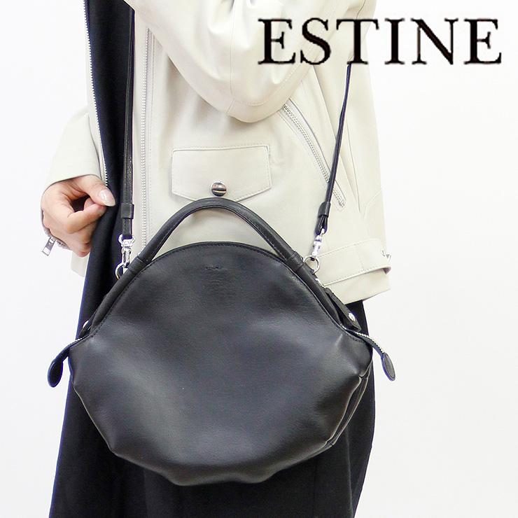 【クーポン対象】エスティーヌ バッグ ESTINE ショルダーバッグ 2way サークル 本革 レディース 1074700