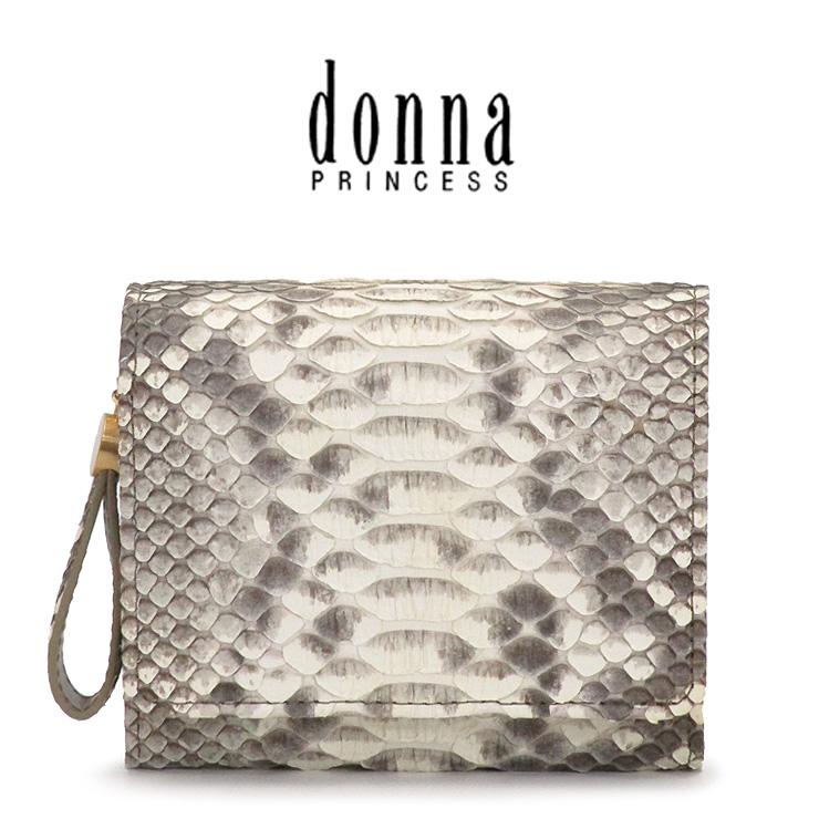 donna PRINCESS ドンナ プリンセス 二つ折り財布 レディース ヘビ革 0091100