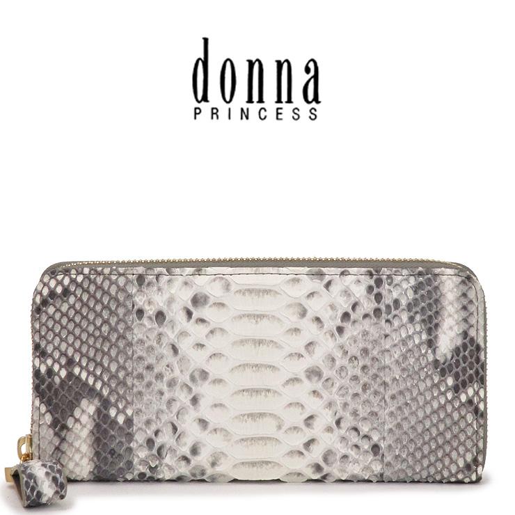 donna PRINCESS ドンナ プリンセス 長財布 レディース ヘビ革 ラウンドファスナー 0091103