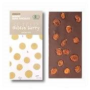 有機アガベチョコダークゴールデンベリー100g★オーガニックのゴールデンベリーを丸ごとトッピング♪★甘味料は低GIアガベシュガー使用♪カカオ70%♪アレルゲンフリー♪★インカベリーの甘酸っぱさがのチョコレートの深い甘みを引き立てます♪