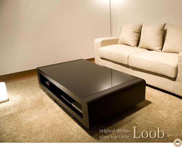 天然木オーク材突き板仕上げのデザインが素晴らしい大型リビングテーブルLoob-D【smtb-k】【関東まで送料無料】【代引き不可商品】