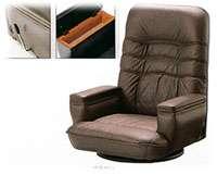 エクセレント座椅子 SPR(本皮)収納付【国産】【送料無料】【smtb-k】