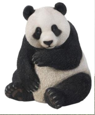 ガーデンオーナメント ジャイアントパンダ      大熊猫 置き物 置物 園芸 ガーデニング 資材 リアル 精巧 アニマル 動物 かわいい オブジェ 人形 庭作り 造園 マスコット ディスプレイ 花壇 ワンポイント 屋外 プレゼント