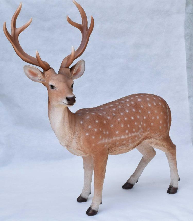 鹿のガーデンオーナメント   牡鹿 しか シカ 置き物 リアル 精巧 ガーデン ガーデニング 園芸 細緻 組立式 組み立て 大型