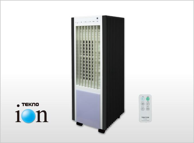 冷風扇 扇風機 リモコン 和モダン テクノイオン 消臭 TCW-030 スマート タンク取り外し可 タイマー 保冷剤付き 風量3段階