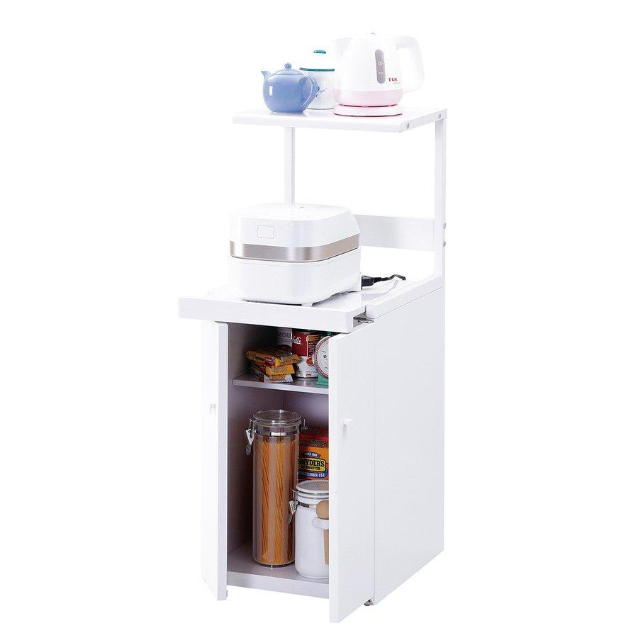 炊飯器置き台 キッチンラック 幅39 キッチンワゴン CA-037W 収納庫 ストッカー 台所 一人暮らし 新生活 炊飯器 MK精工 エムケー精工 収納家具