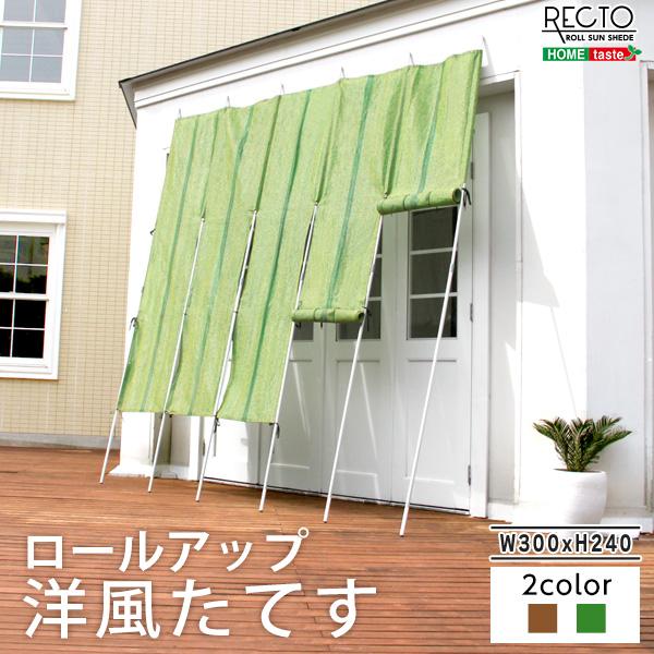 ロールアップ洋風たてす 幅300x高さ240cm【レクト-RECTO-】(たてす すだれ 300幅)szo