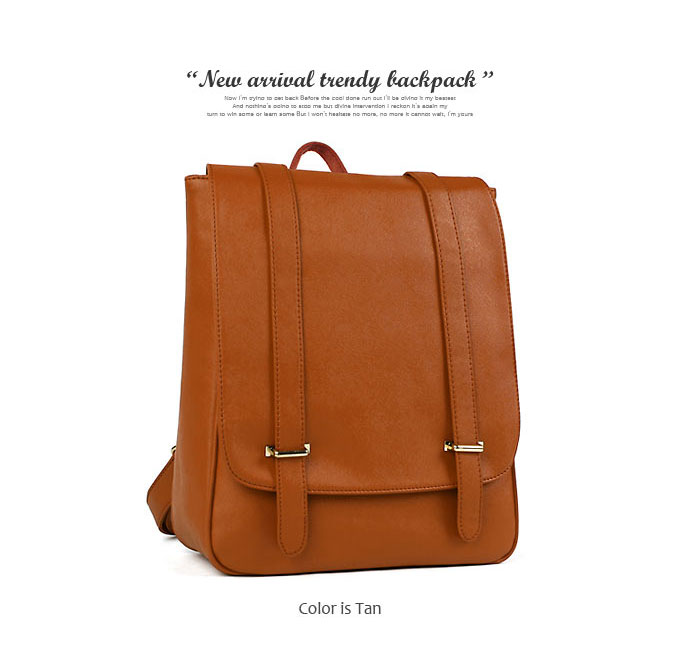 Every day you want to have simple design! Classical square luck / women's backpack simple adult dress natural leather DarkAngel / Dark Angel