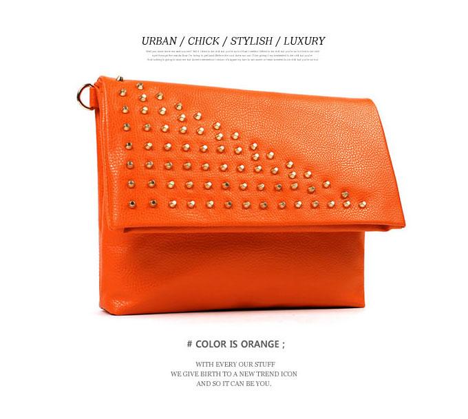 A spicy stylish design! Studs clutch shoulder 2WAY bag / Lady's clutch bag shoulder bag studs 2WAY party DarkAngel/ dark angel