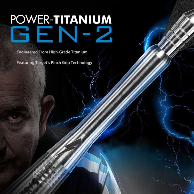 TARGET PHIL TAYLOR GEN 2 POWER TITANIUM PINCH GRIP SHAFT ...MEDIUM LENGTH..