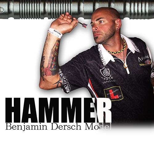 다트 배럴 DYNASTY HAMMER 망치 실버 Benjamin Dersch 모델 (포스트 편 불가)