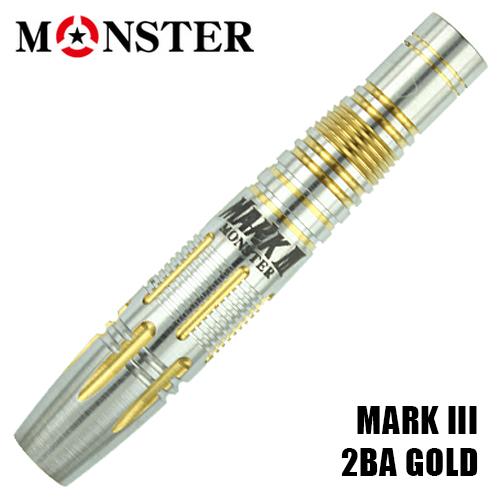 ダーツ バレル MONSTER MARKIII(マーク3) 2BA ゴールドコーティング (メール便OK/10トリ)