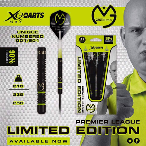 XQ 맥스 다트 Michael Van Gerwen Limited Edition 23g STEEL PREMIER LEAGUE (포스트 편 불가)