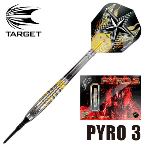 ダーツ TARGETダーツバレル PYRO.3 パイロ.3 星野光正モデル (メール便OK/9トリ)
