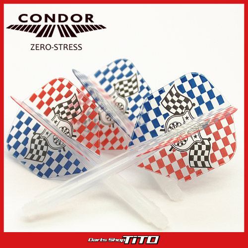 Integrated Flights & Shaft System - CONDOR -  Checkered Flag Design - CLEAR