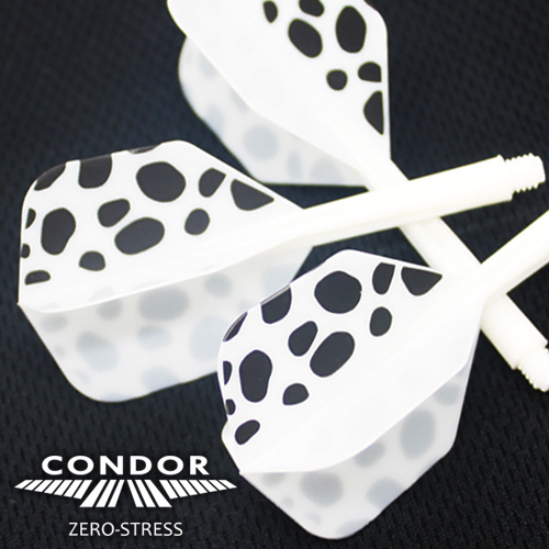 Integrated Flights & Shaft System - CONDOR - Dalmatian Design - SMALL