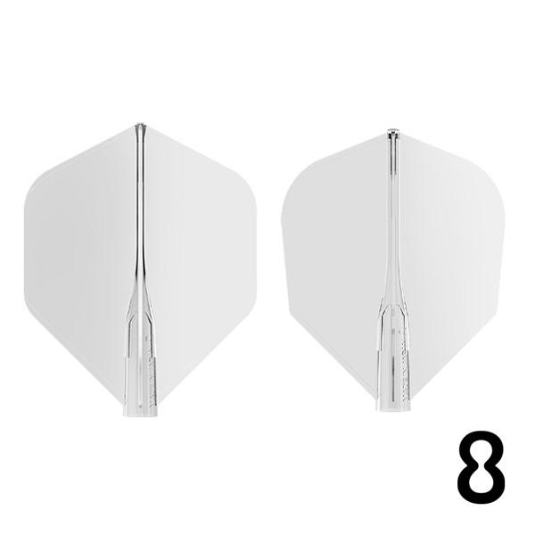 クリアタイプのフライトが新登場 ダーツ フライト 国際ブランド TARGET 8 FLIGHT 受注生産品 CLEAR エイトフライト クリア メール便OK 8フライト 2トリ ターゲット