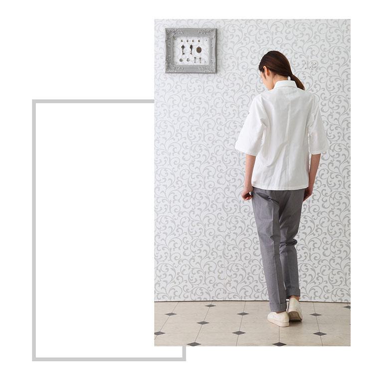 シャツ RH6525 HAKUI セブンユニフォーム コックシャツ 半袖 メンズ レディース ロールアップ カフェ 飲食店 厨房 サービス業 制服 レストラン ユニフォームXZikuP