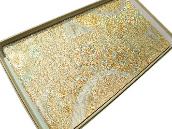 【送料無料】逸品!正絹西陣袋帯●燦金つづれ-正倉院華文様●hu142