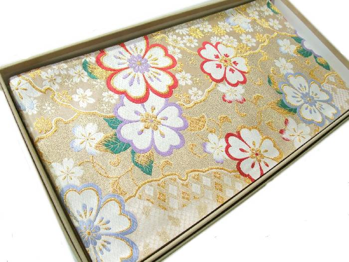 【送料無料】新品!正絹西陣袋帯◆豪華な金地雪輪華文様柄◆hu470