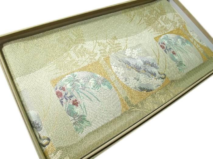 【送料無料】袋帯 正絹 西陣 フォーマル 新品 匠の技 平文織琳派文様 hu076