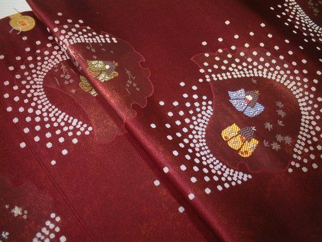 【送料無料】新品!正絹西陣名古屋帯◆おしゃれな雪輪人形柄◆na214
