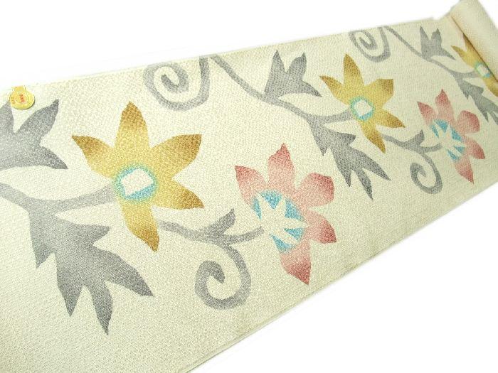 【送料無料】新品!正絹西陣名古屋帯◆変わり織りの染め帯◆na330