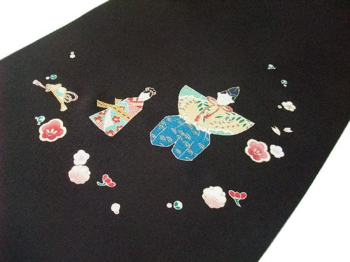 【送料無料】新品!正絹塩瀬名古屋帯◆手描京友禅-ひな祭り◆na338