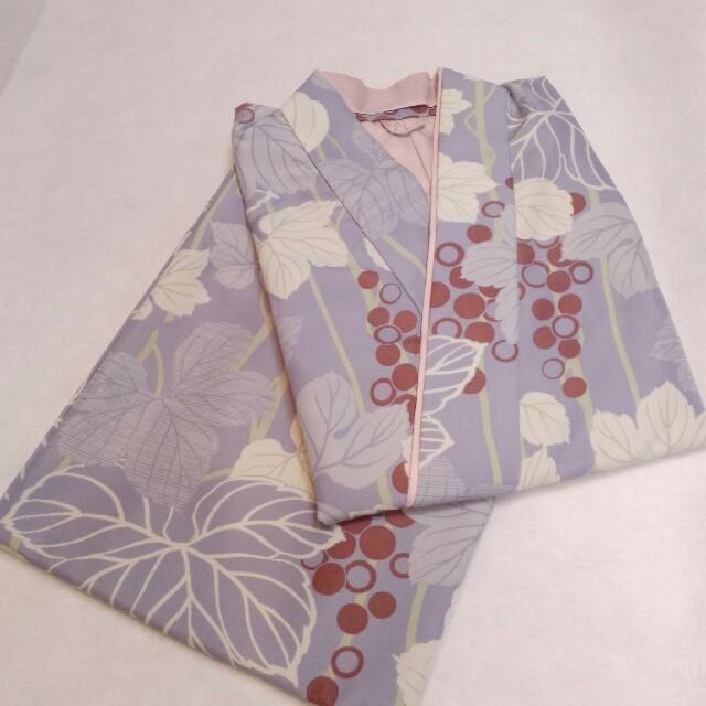 二部式着物 洗える着物 お仕立て上がり R・KIKUCHI グレー 新品 wk923