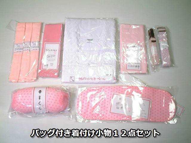 着物 着付け和装小物 10種類12点セット 収納バッグ付き ws034