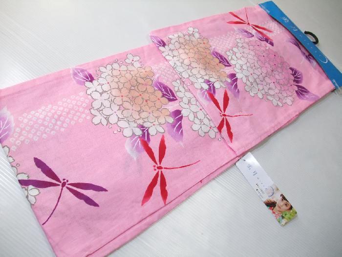 【送料無料】新品!お仕立て上がりブランド浴衣★美月mizuki ピンク紫陽花★yu1697