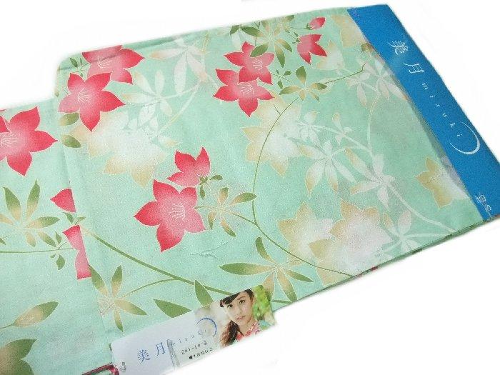 【送料無料】浴衣 レディース お仕立て上がり 美月 mizuki 緑色 桔梗 yu1818