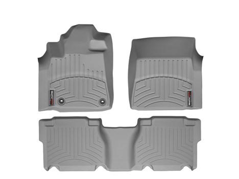 2012年~2013年USトヨタ タンドラ ダブルキャブ用ウェザーテックフロアライナー デジタルフィット グレー[正規品][ピックアップ乗りの必需品][自社輸入価格][送料無料][アメ車][逆輸入車][デイブレイク]
