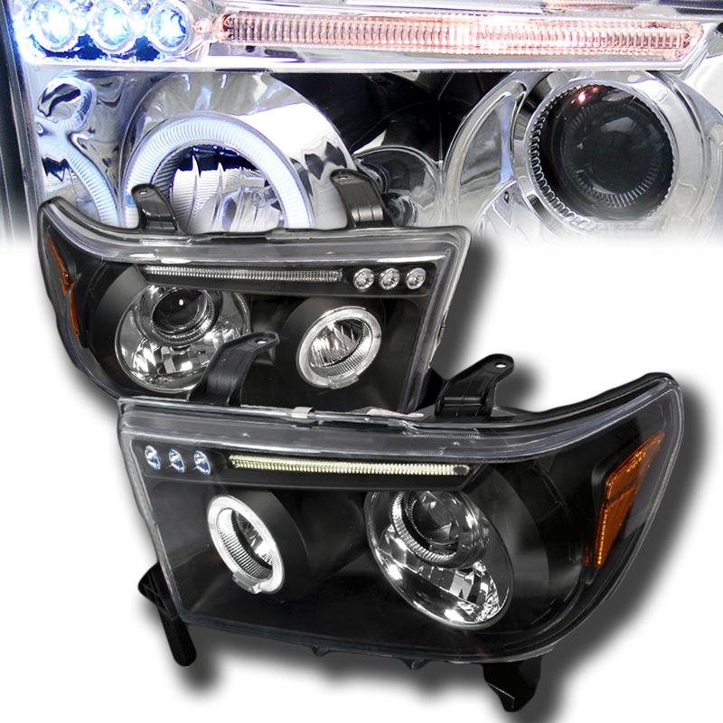 2008年~セコイア用プロジェクターヘッドライトブラックLED