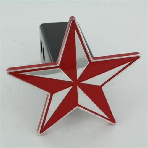 AMI ヒッチカバー STAR RED☆☆[取付簡単][プレゼントに大人気][USA直輸入][トレーラーヒッチ][デイブレイク]