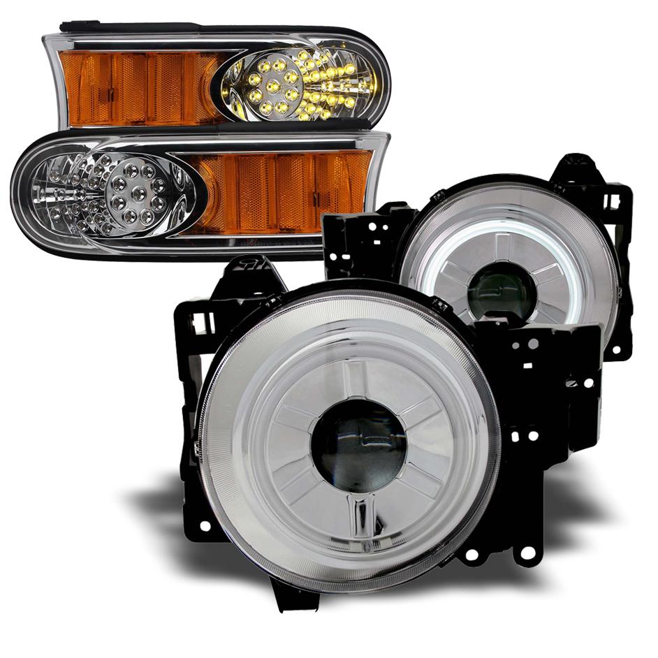 2007年~2014年 FJクルーザー用 イカリングプロジェクターヘッドライトセット 目立ちます!!