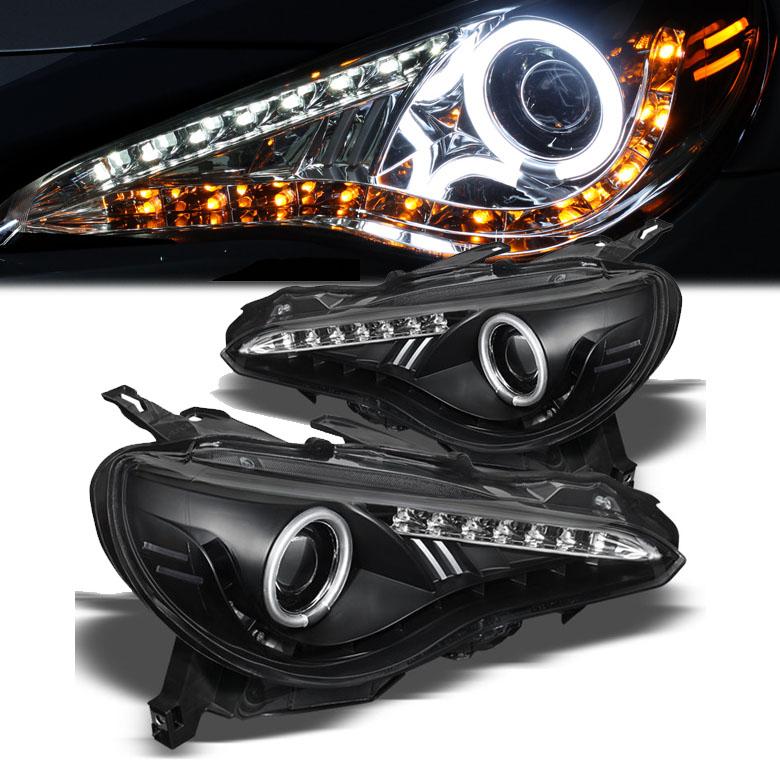 サイオンFRーSトヨタ86用ヘッドライト LED ブラック
