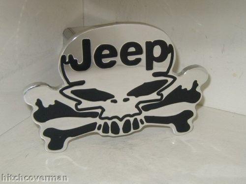 jeep skullヒッチカバー チェロキー ラングラーなど☆☆☆[取付簡単][プレゼントに大人気][USA直輸入][トレーラーヒッチ][デイブレイク]