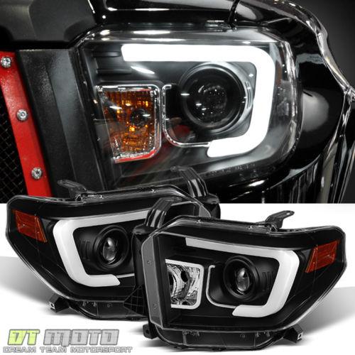 2014年~2017年USトヨタ タンドラ用LEDバー ヘッドライト ブラック[USA直輸入][新商品][ドレスアップ][アメ車][逆輸入車][デイブレイク]