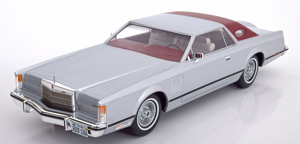 1978 Lincoln Continental Mark 5 Coupe Silver / Dark Red Roof by BoS Models 1/18 リンカーン マーク5[USA直輸入][大人のミニカー][プレゼントにおすすめ][デイブレイク]